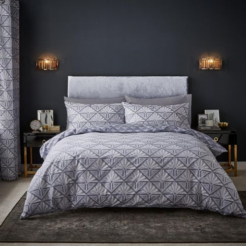 Catherine Lansfield Art Deco Grey Bedding Set